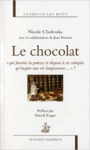 Le chocolat Livre Collection Champion les Mots