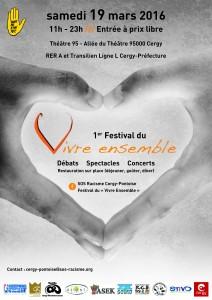 Festival Vivre ensemble Cergy mars 2016
