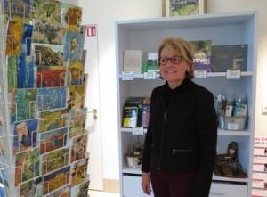 Catherine Galliot, directrice de l'office de tourisme d'Auvers. Municipalise, l'etablissement a rouvert il y a un an.