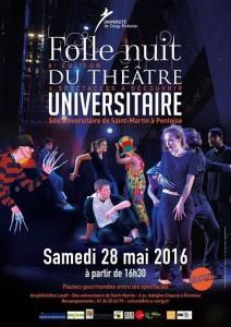 Folle nuit du théâtre 28 mai 2016