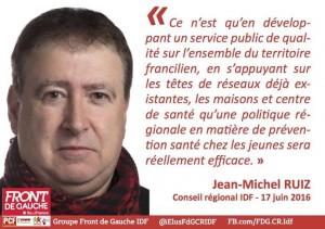 Jean-Michel RUIZ Conseiller Régional PCF Front de Gauche