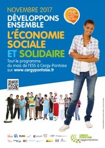 Mois de l'ESS 2017 Cergy-Pontoise Flyer