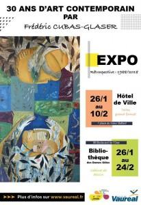 Frédéric CUBAS GLASER Affiche Expo 30 ans d'art contemporain Vauréal 2018