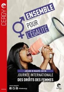 Journée Internationale des droits des femmes 8 mars 2018 Cergy