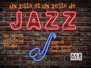 Un ziste et un zeste de jazz nouveau visuel 2016