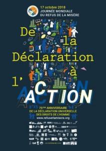 Journée Mondiale du Refus de la Misère 2018 Déclaration à l'action